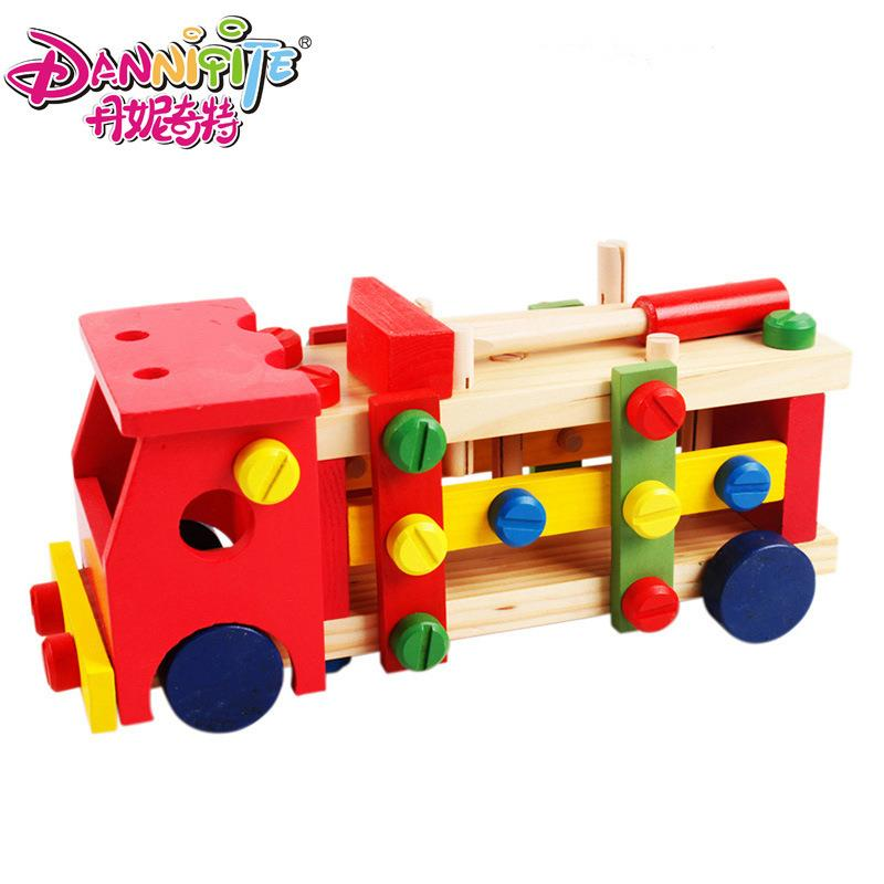 Children´s Educational Early Childhood Wooden DIY Car