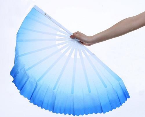 Chinese Kung Fu Tai Chi Wu Shu Nylon Bamboo Weapon Wood Hand Fan