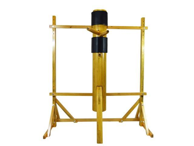 Chinese Kungfu Wing Chun Wooden Standing Wood Dummy Punching Kick Bag