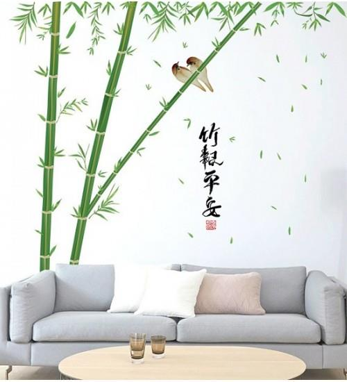 Chinese Style Bamboo Tree Wall Art Decoration Removable Sticker