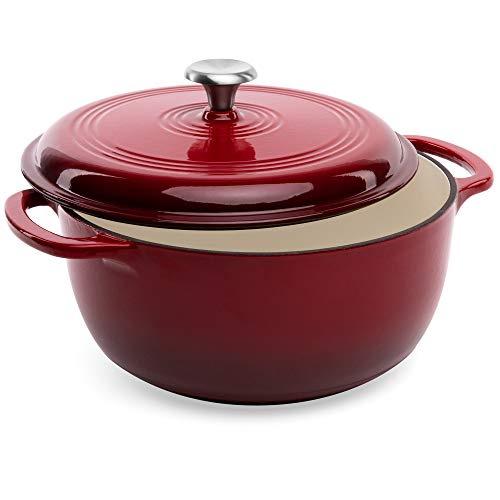 Best Choice Products 6qt Non-Stick Enamel Cast-Iron Dutch Oven for Baking, Bra
