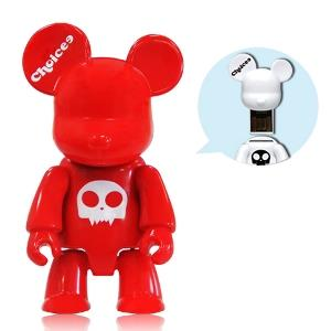 Choicee 8GB X Qee Bear USB 2.0 Flash/Thumb/Pendrive (Red)