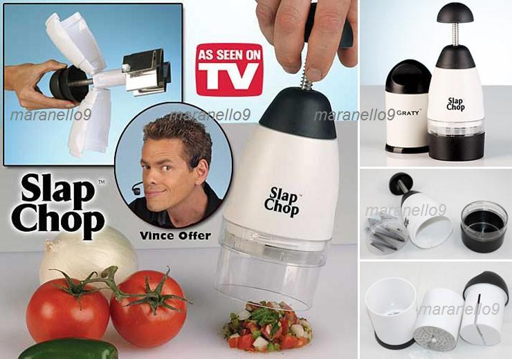 Chop CHop! SLAP CHOP+FREE CHEESE GRATER.Dice, Chop & Mince In Seconds