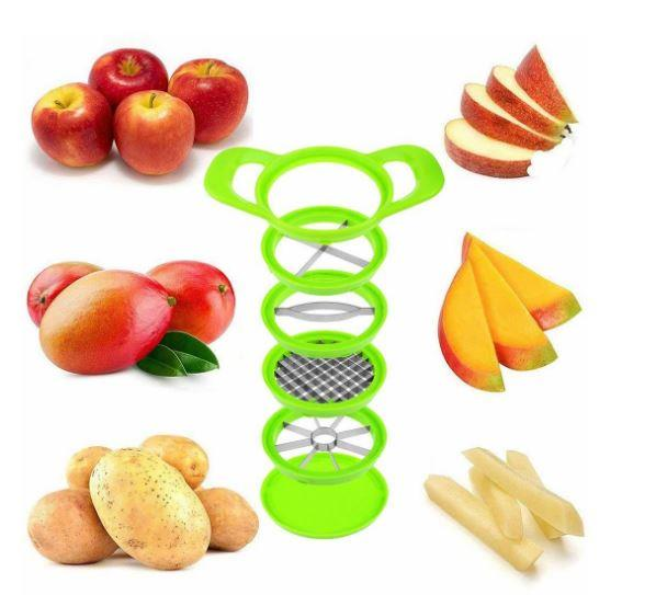 Chop And Dice Slicing Vegetables Fruits Slicer Chopper Steel Blades