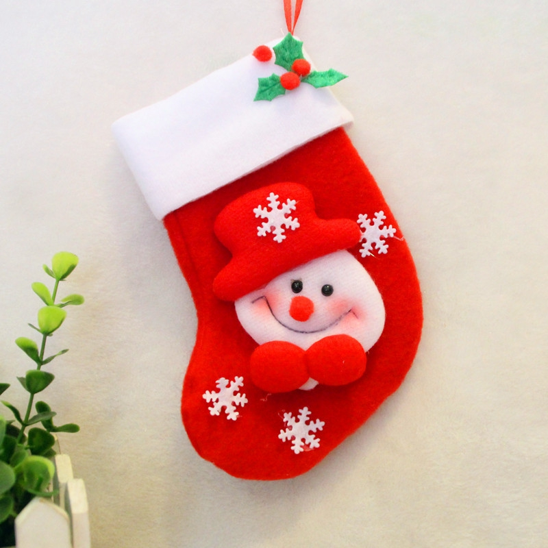 Christmas Decorations - 2pcs Snowman Gift Socks Knife And Fork Bag Chr..