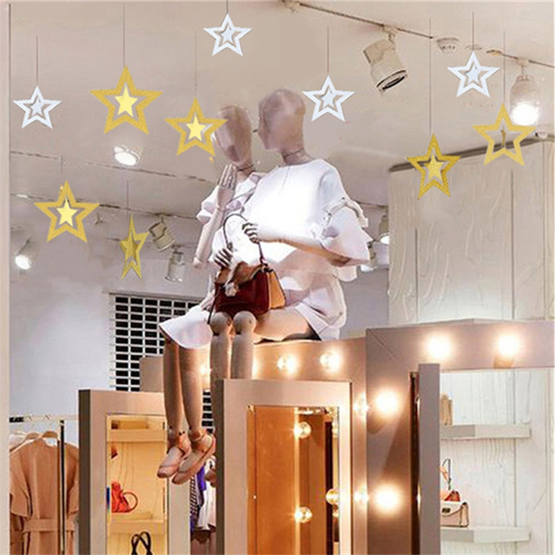 Christmas Decorations - Christmas Tree Stars Decorations Festival Air ..