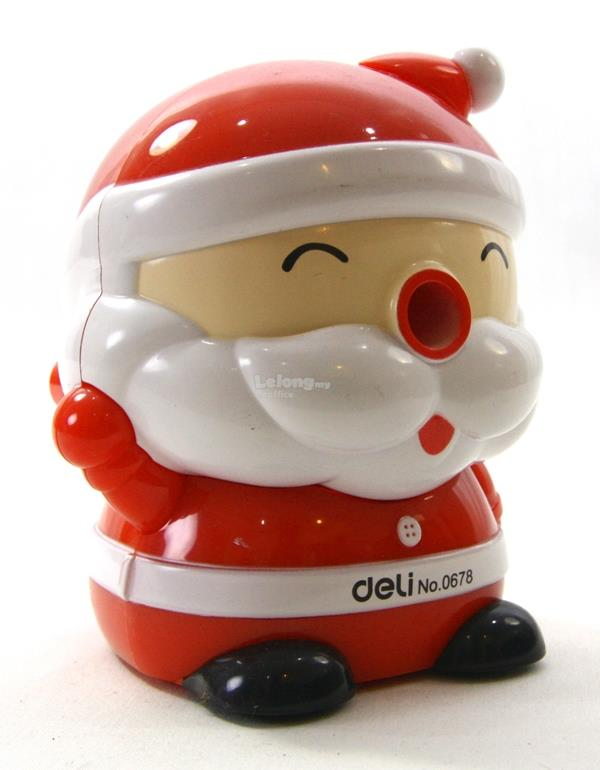 Christmas Gift Santa Claus Rotary Pencil Sharpener