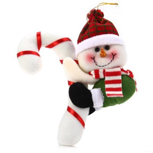 christmas hanging snowman with cane indoor christmas decoration green