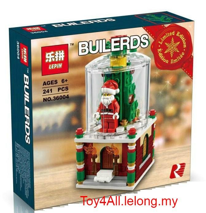 Lego Christmas.Christmas Limited Edition Holiday Snowglobe 40223 Lego Brick