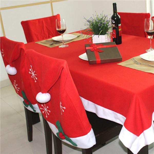 Christmas Red Table Cloth 184 * 128cm Household Festival Dinner. U2039 U203a