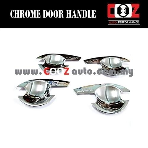 Chrome Door Handle Grand Bowl Cup Insert Cover for Nissan Frontier Nav