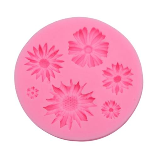 CHRYSANTHEMUM FLOWER SILICONE FONDANT CAKE DECORATION MOLD PASTRY TOOL