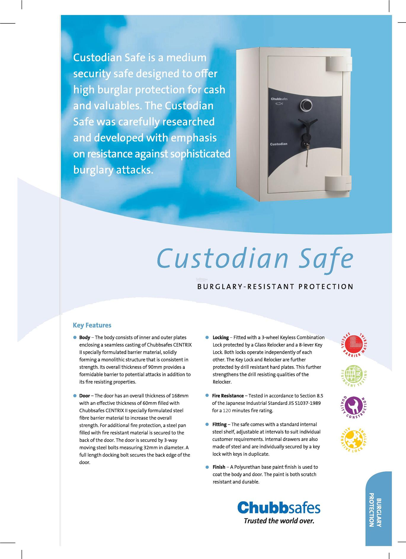 Chubbsafes Custodian Series Safe Box (Size 2 - 530kg)