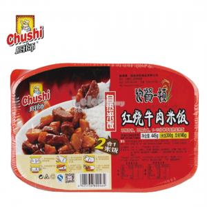 CHUSHI SELF COOK INSTANT RICE 445g BRAISED BEEF FLAVOUR (1 LUN..