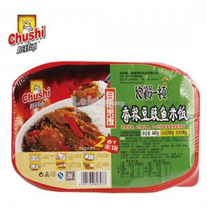 CHUSHI SELF COOK INSTANT RICE 445g SPICY BEAN FISH FLAVOUR (1 L..
