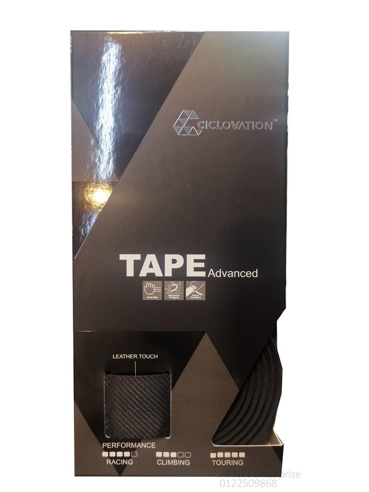 CICLOVATION ADVANCED HANDLE BAR TAPE LEATHER TOUCH 2D CARBON BLACK