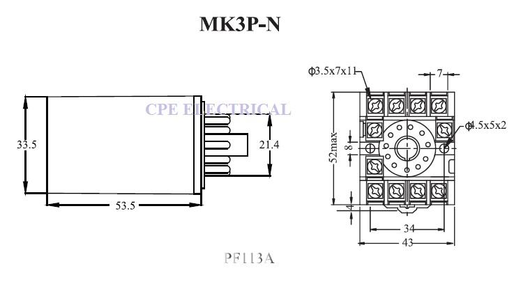 cikachi mk3p n 10a 11 pin 3 pole pow end 9 17 2019 4 15 pm rh lelong com my 12 Volt Relay Wiring Diagrams Bosch Relay Diagram