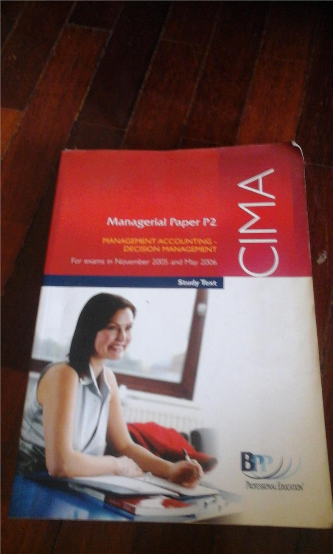 CIMA Management Accounting - Decision management