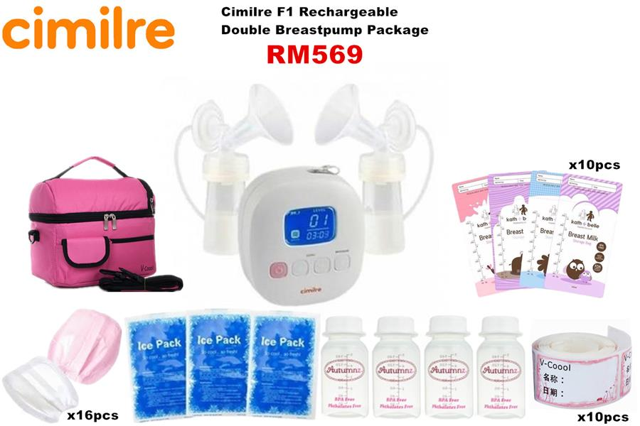 Cimilre F1 Rechargeable Double Breastpump Package