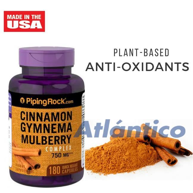 Cinnamon Gymnema Mulberry Complex 750mg 180 Capsules