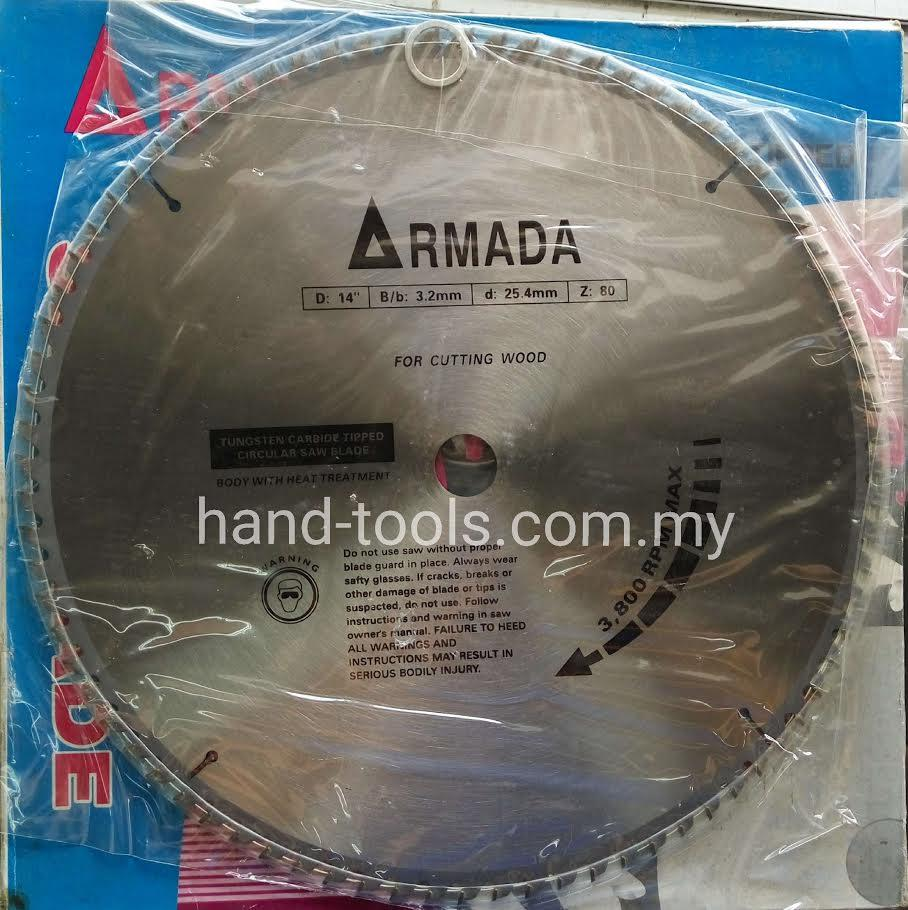 CIRCULAR SAW BLADE  WOOD ARMADA 14'X3.2X25.4MM