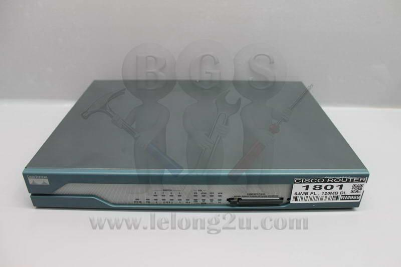 Cisco 1800 Series 1801 Integrated Services Router 64MB FL - 256MB DL