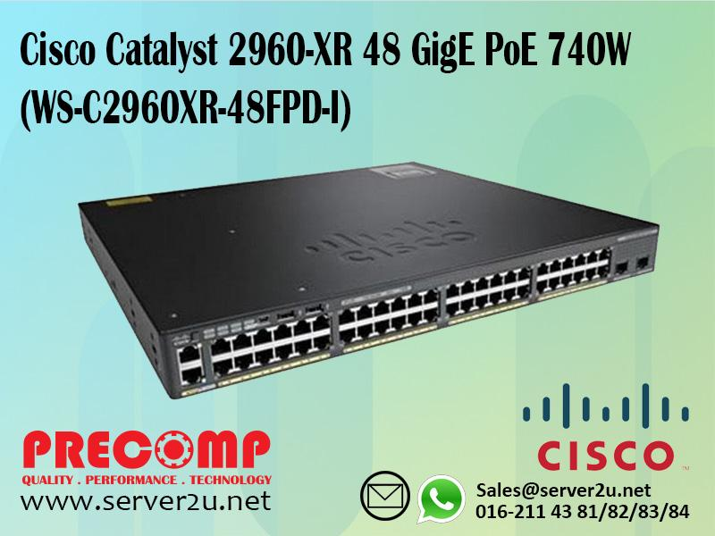 Cisco Catalyst 2960-XR 48 GigE PoE 740W (WS-C2960XR-48FPD-I)