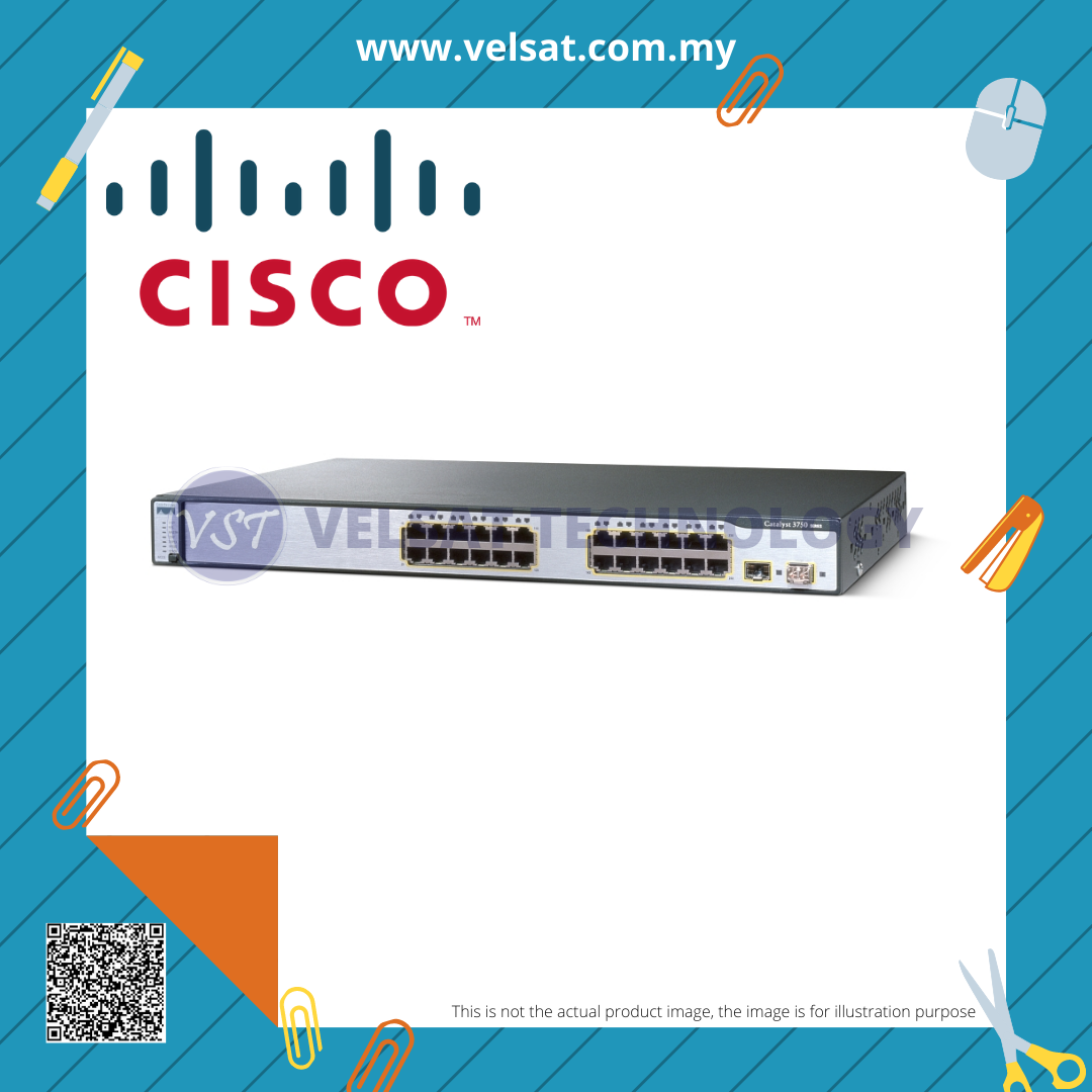 Cisco Catalyst 3750 24-Ports Switch WS-C3750-24TS-S
