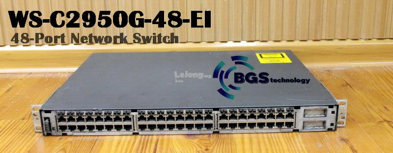 Cisco Catalyst WS-C2950G-48-EI 2950 Series 48-Port Network Switch