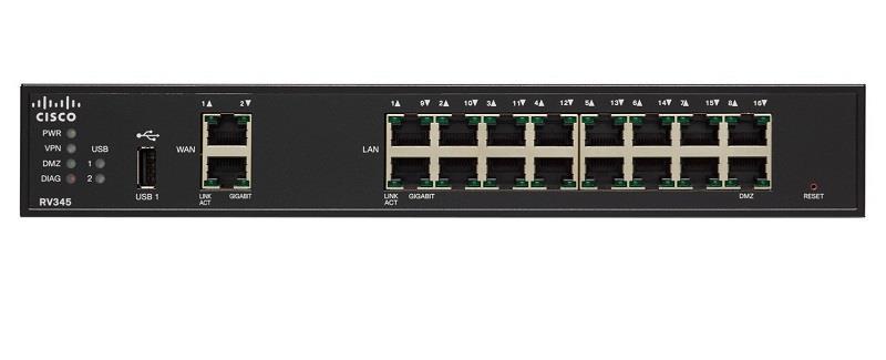 Cisco RV345 Dual WAN Gigabit VPN Router (RV345-K9-G5)