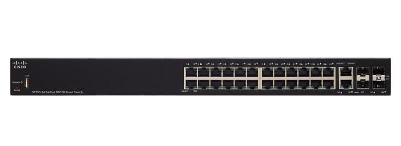 Cisco SF250-24 24-Port 10/100 Smart Switch (SF250-24-K9-UK)