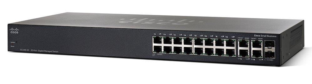 Cisco SG 300-20 20-port Gigabit Managed Switch (SRW2016-K9-UK)