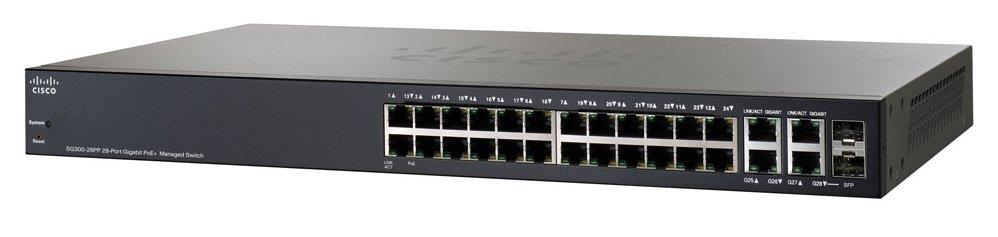 Cisco SG300-28PP 28-port Gigabit PoE+ Managed Switch(SG300-28PP-K9-UK)
