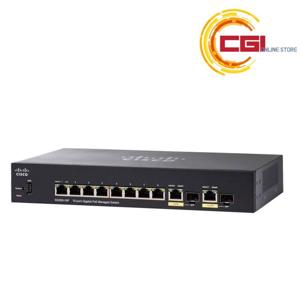 Cisco SG350-10P 10-Port Fully Managed Gigabit POE Switch (SG350-10P-K9-UK)