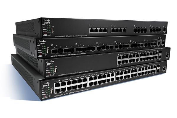 Cisco SG350X-24P 24-port Gig POE Stackable Switch (SG350X-24P-K9-UK)
