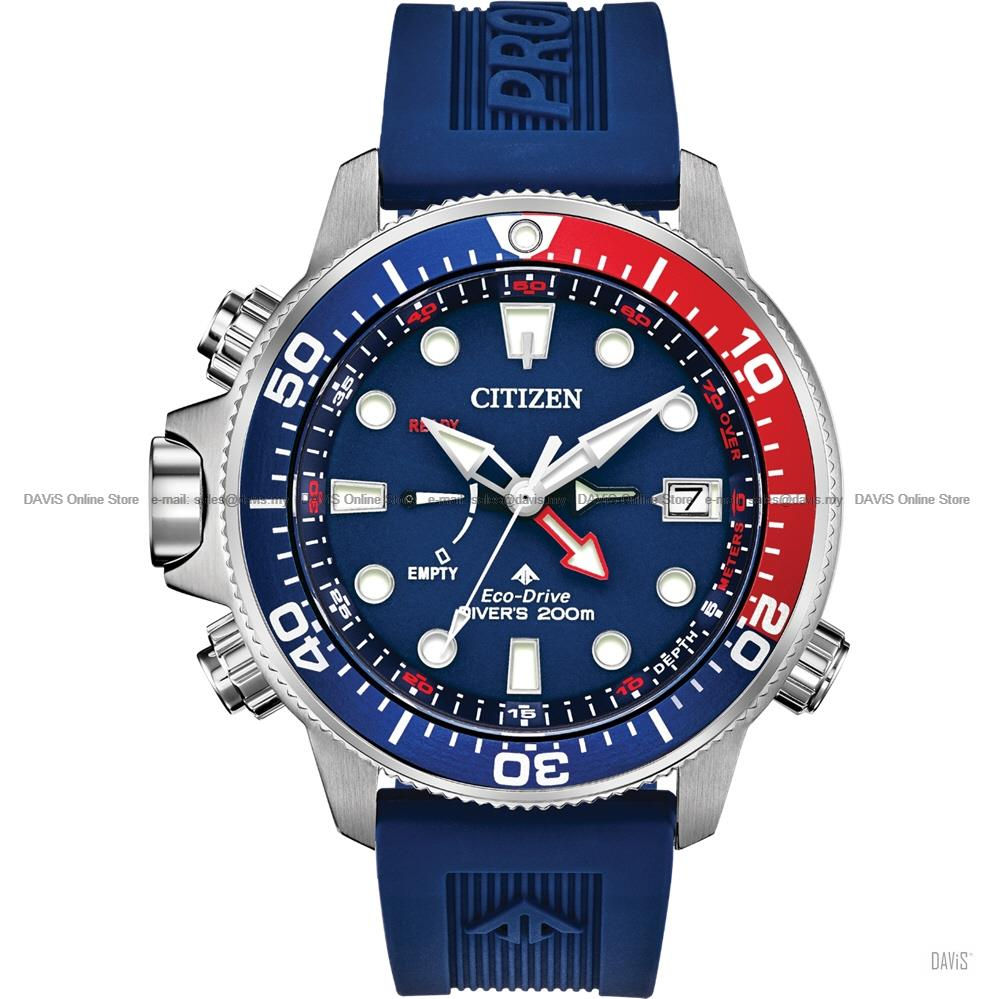 CITIZEN BN2038-01L Promaster Aqualand Diver Eco-Drive Rubber Blue