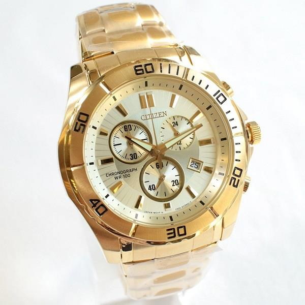 CITIZEN Chronograph Gold Tone AN7102-54P AN7102-54 Men's Watch