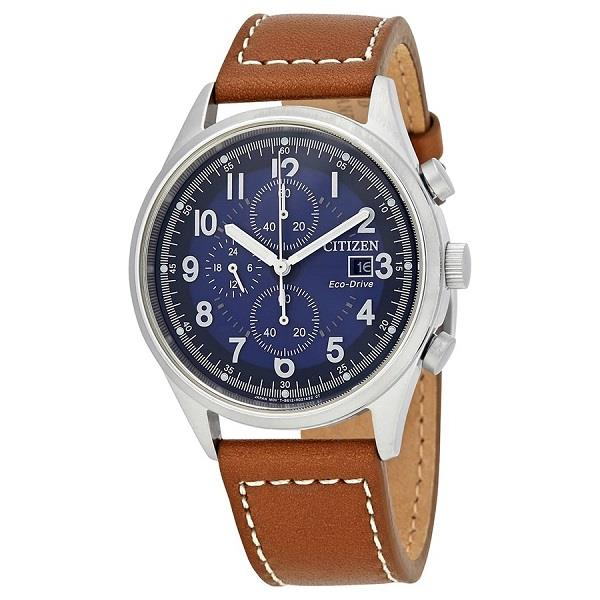 CITIZEN Eco-Drive Chandler Chronograph Leather CA0621-05L CA0621-05