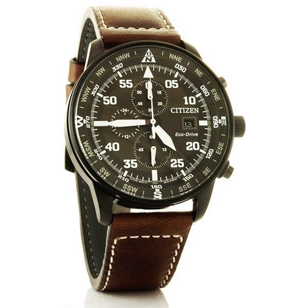 moda firmata cd8a7 b2555 CITIZEN Eco-Drive Chrono Aviator Pilot CA0695-17E CA0695-17 Men Watch