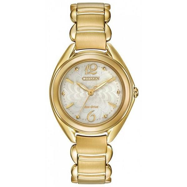 CITIZEN Eco-Drive Gold Tone FE2072-54A FE2072-54 Ladies Watch
