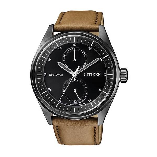 CITIZEN Eco-Drive Metropolitan Black IP Leather BU3018-17E BU3018-17