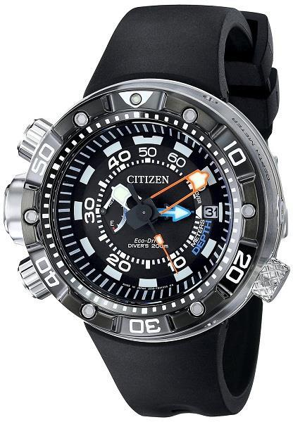 CITIZEN Eco-Drive Promaster Aqualand DLC ISO Japan Divers BN2029-01E