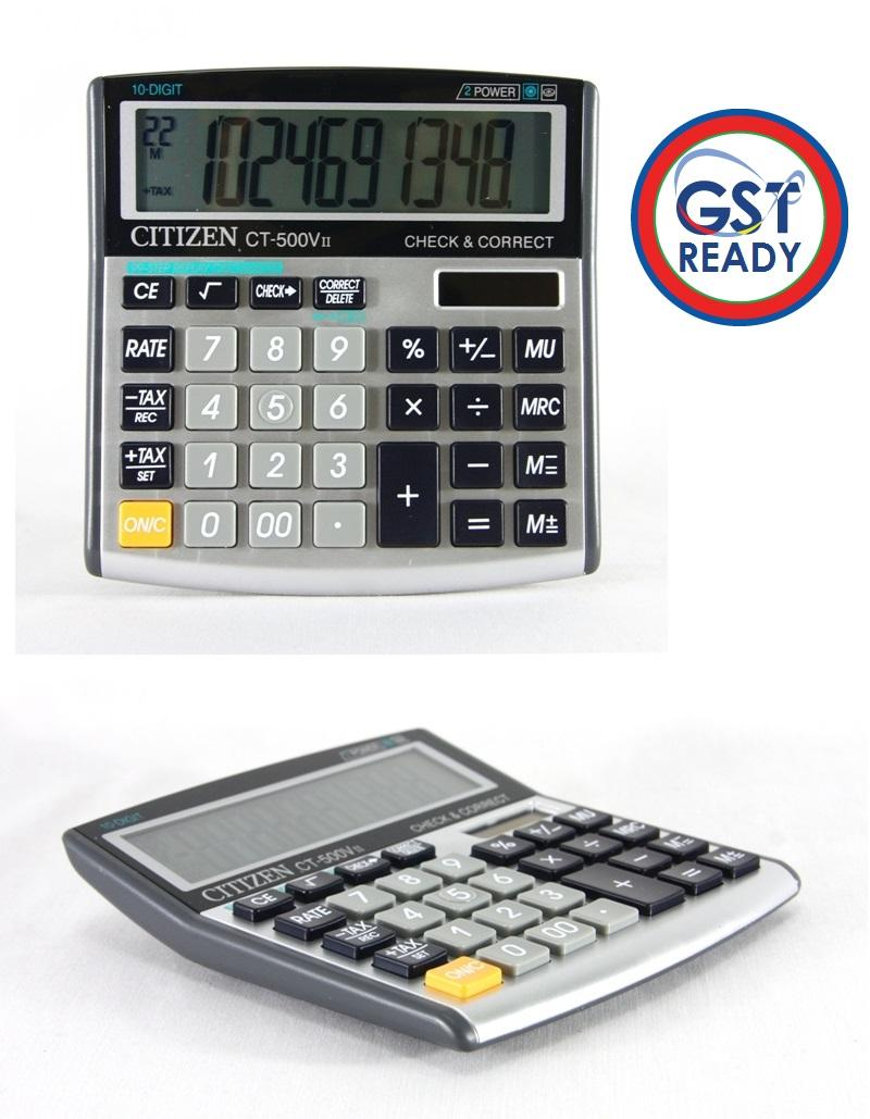 Citizen Electronic Calculator 10 Digi End 7 4 2018 221 Pm Digit Ct 500vii