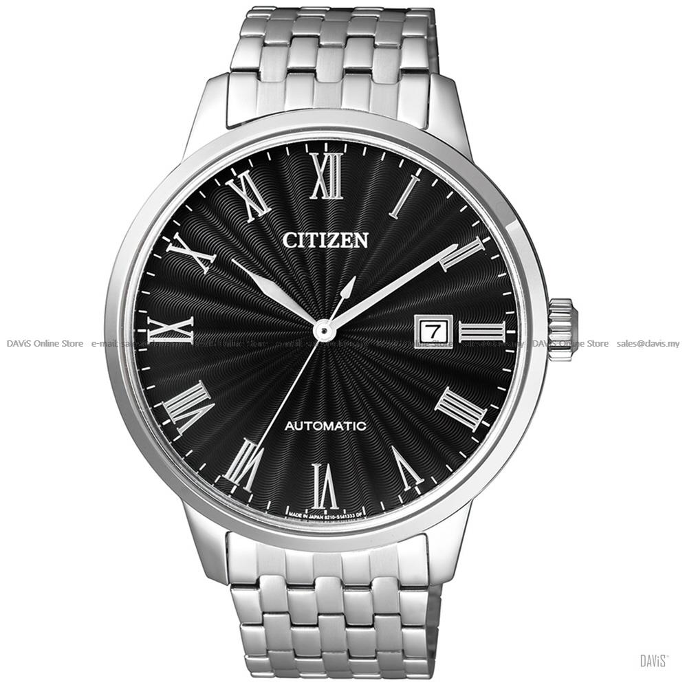 CITIZEN NJ0080-50E Men's Automatic Date SS Bracelet Black