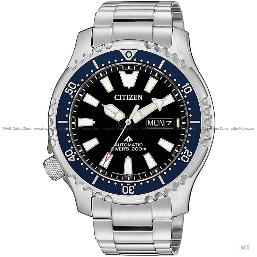CITIZEN NY0098-84E Men's Promaster Diver Automatic Black Blue Asia LE