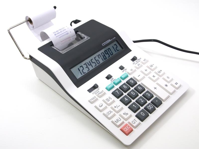 Citizen Printing Calculator CX-121N Tax Calculation 12 Digits