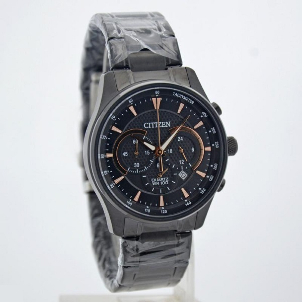 CITIZEN Quartz Chronograph Black IP AN8195-58E AN8195-58 Men's Watch