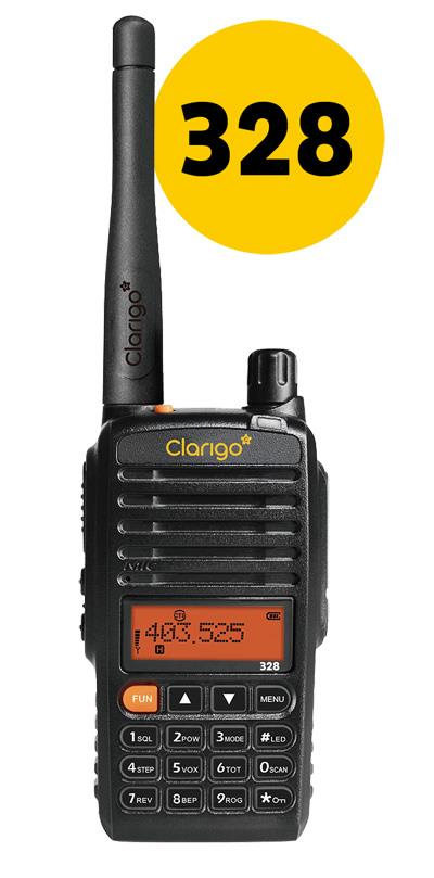 CLARIGO PORTABLE TWO-WAY RADIO WALKIE TALKIE (CLARIGO 328)