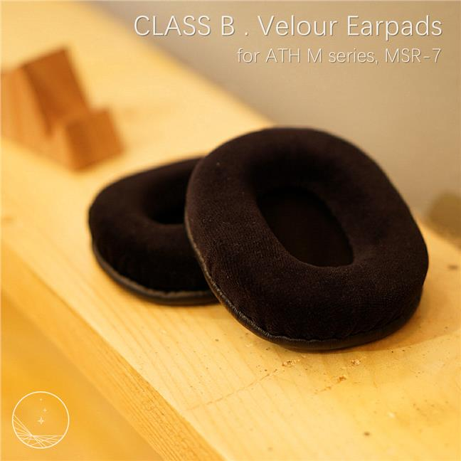 (Class B) ATH M series M50X  / MSR7 velour ear pad / earpad
