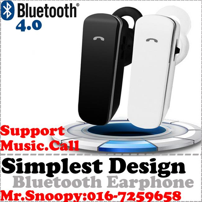 Classic Bluetooth Earphone,Bluetooth Headset,Play Music,Call 4.0
